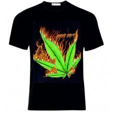 Μπλούζα T-Shirt  Κάνναβη Φωτιά  D4835