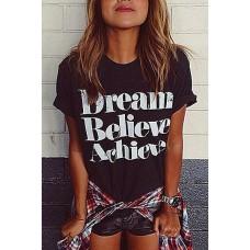 Μπλούζα  T-Shirt  Dream Believe Achieve