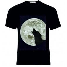 Μπλούζα T-Shirt Λύκος Φεγγάρι D4963
